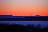 3.15.14: Some recently added windmills on Fire Island  are silhouetted against the setting sun on a very nice ending to a winters day in Alaska.